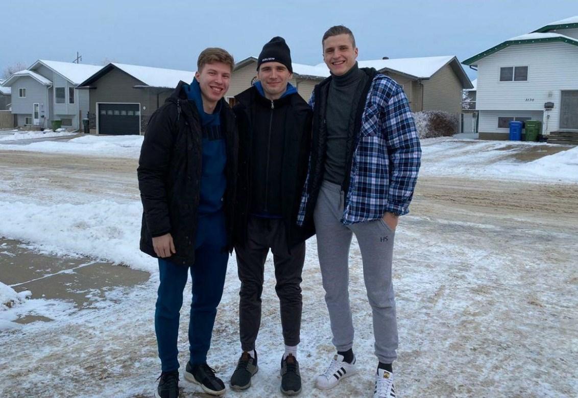 Ilya Usov with Damiil Stepanov and Alexei Protas