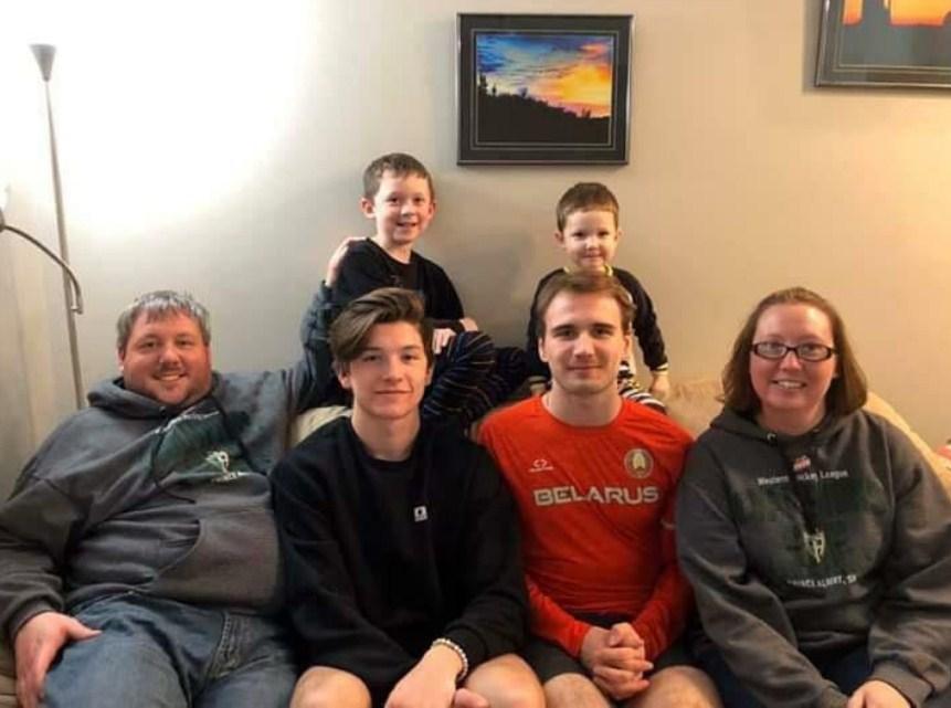 Ilya Usov with host family